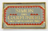 Simon and Garfunkel - 'England & Europe1982' Lapel Badge